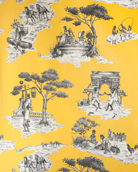 Harlem Toile Yellow