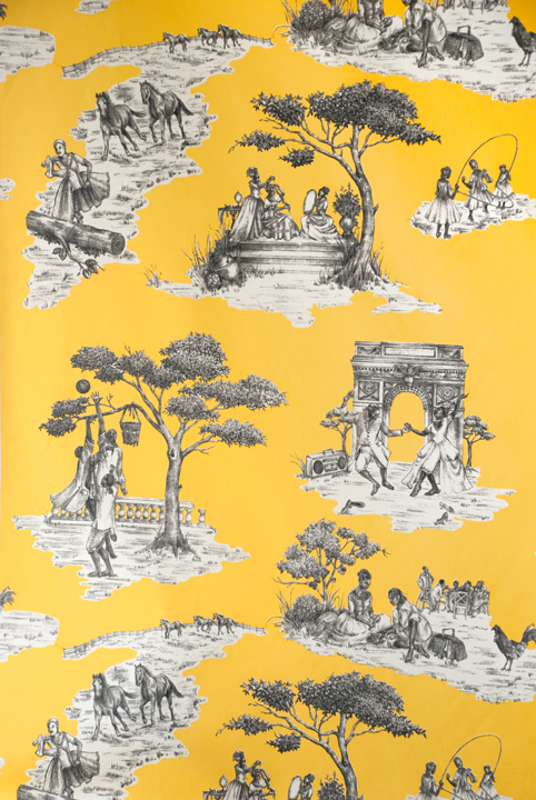 harlem toile de jouy wallpaper sheila bridges. Black Bedroom Furniture Sets. Home Design Ideas