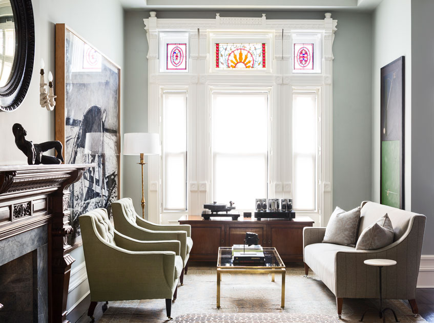 Harlem Townhouse Living Room
