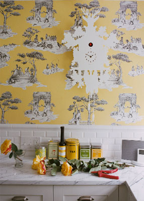 Harlem Toile Kitchen
