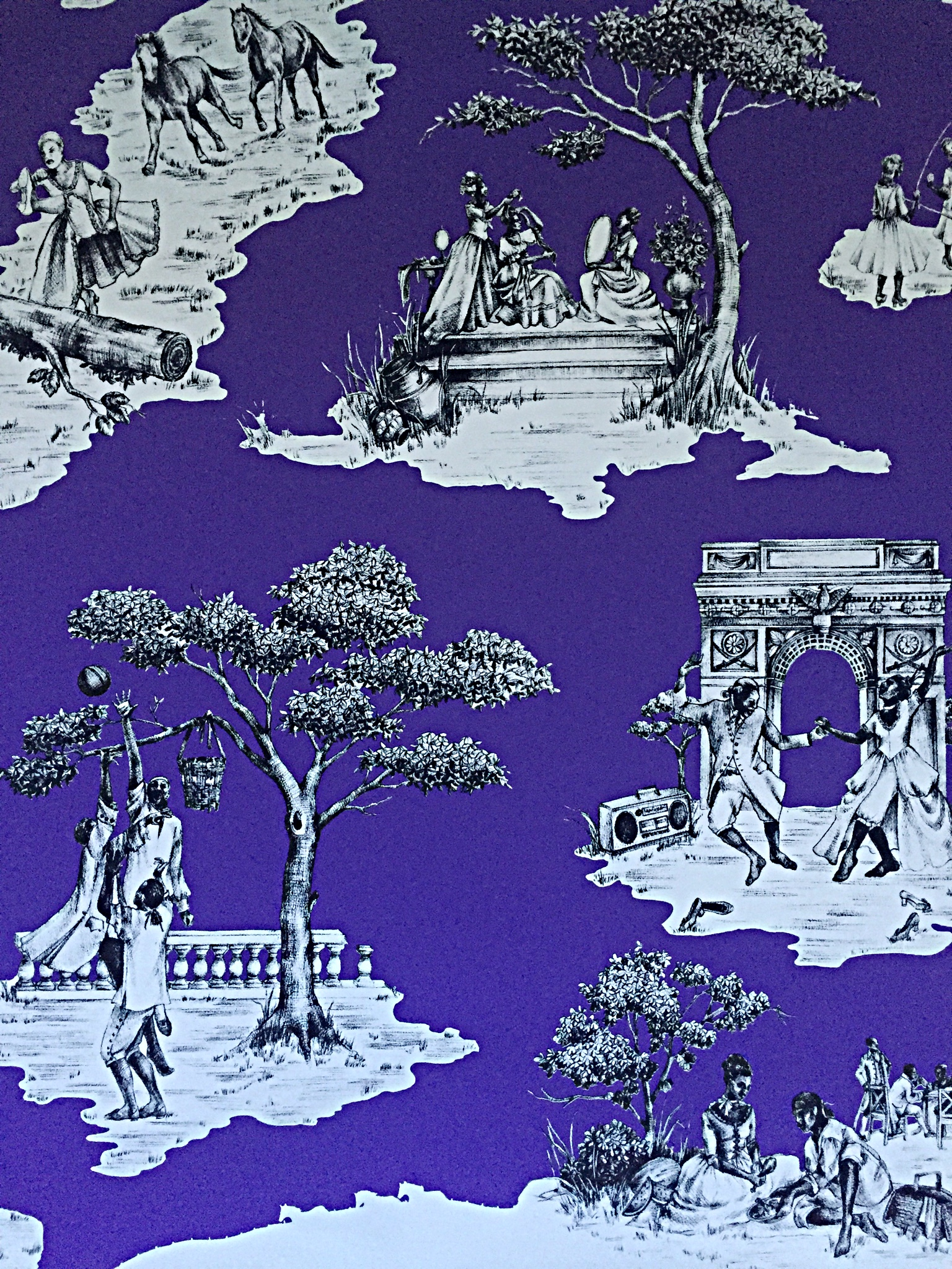 toile de jouy decoration 1st. Black Bedroom Furniture Sets. Home Design Ideas