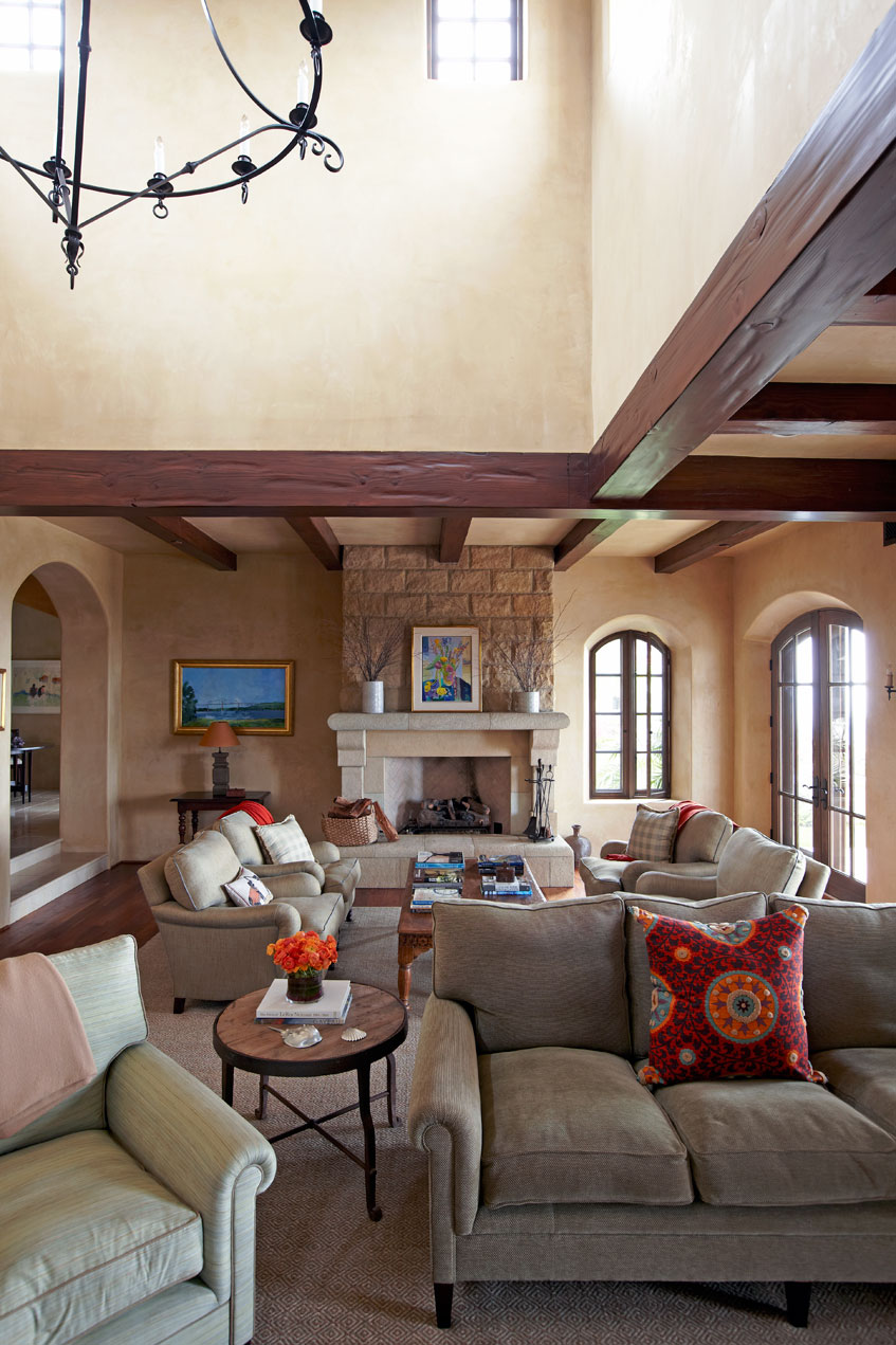 Santa Barbara Family Room Detail