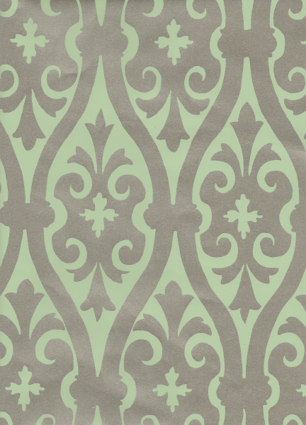 Torino Damask Metallic Green