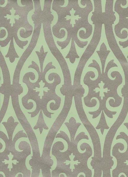 Torino Damask Metallic Green