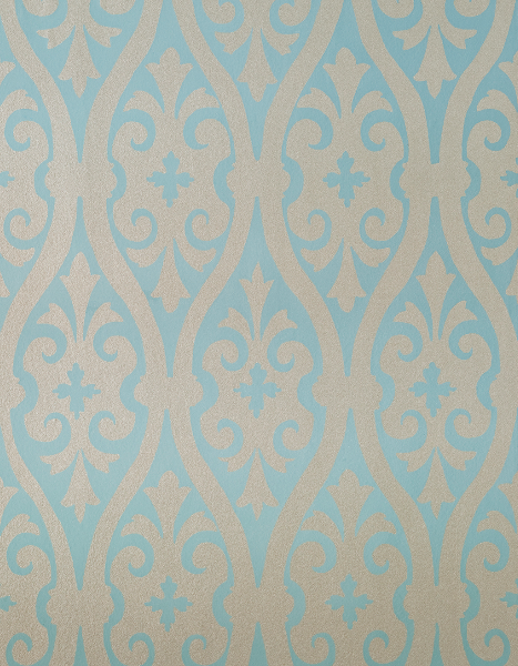 Torino Damask Metallic Blue