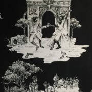 Harlem Toile White on Black