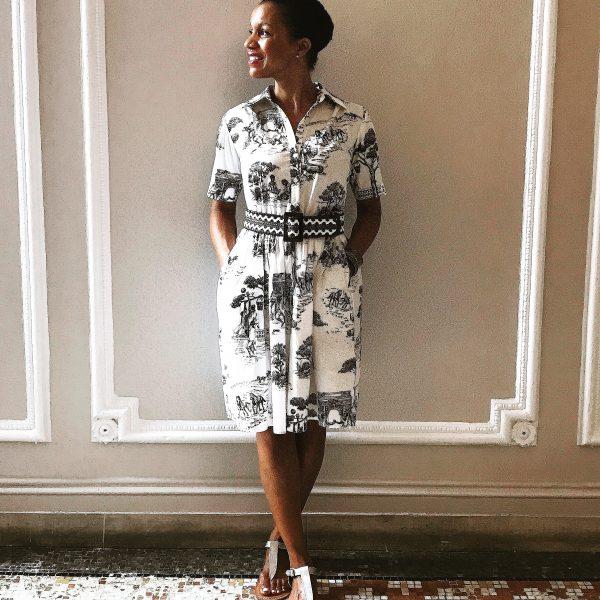 Harlem Toile Dress