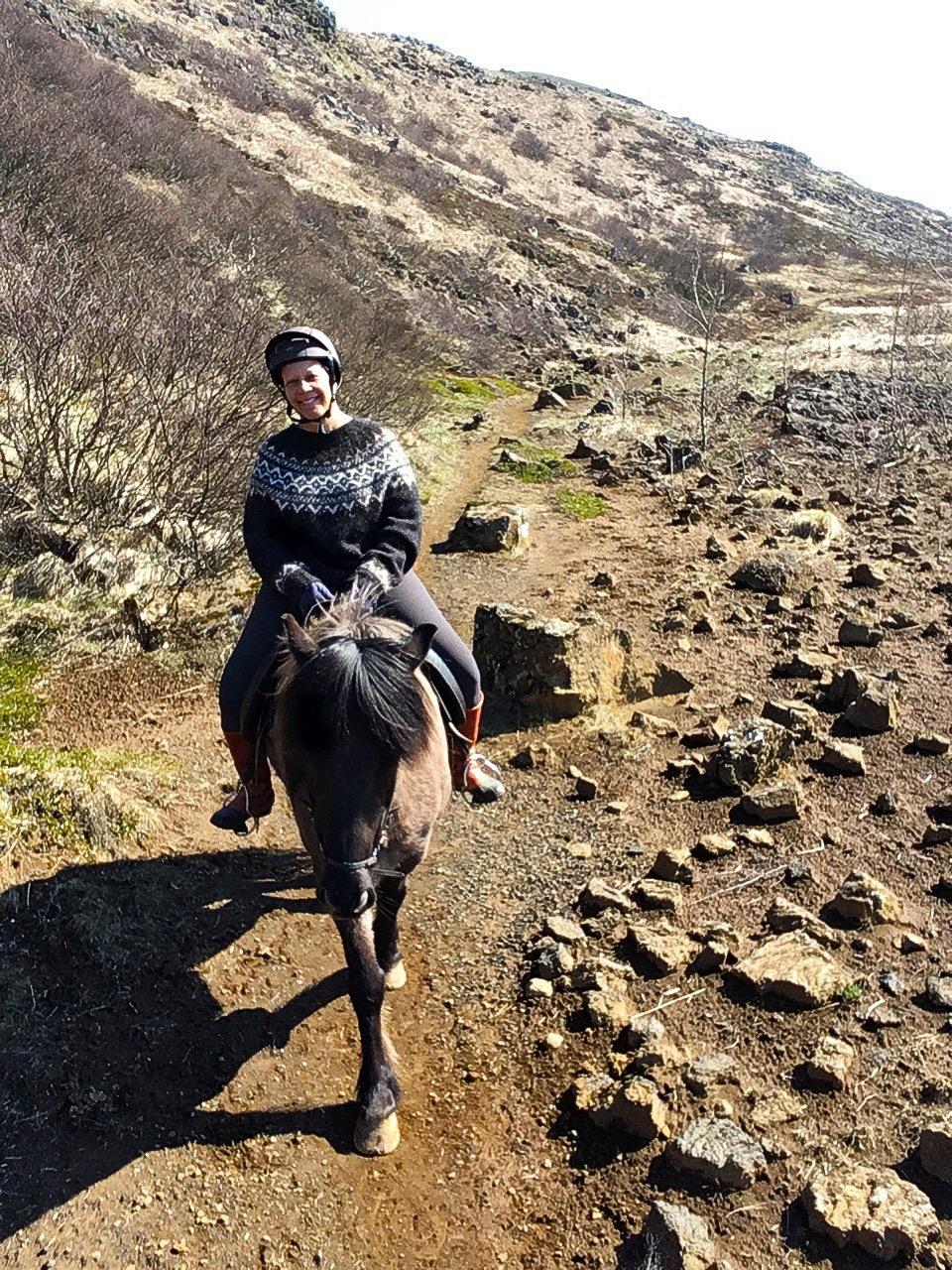 Sheila on Icelandic Horse